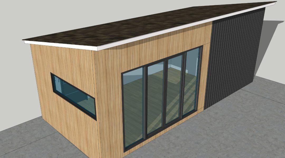 precast concrete modular home office pod